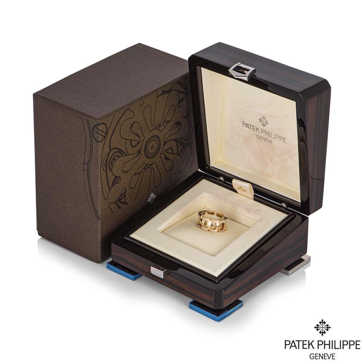 Patek Philippe Rose Gold Diamond Twenty-4 Ring 275.9748/1.R4.530